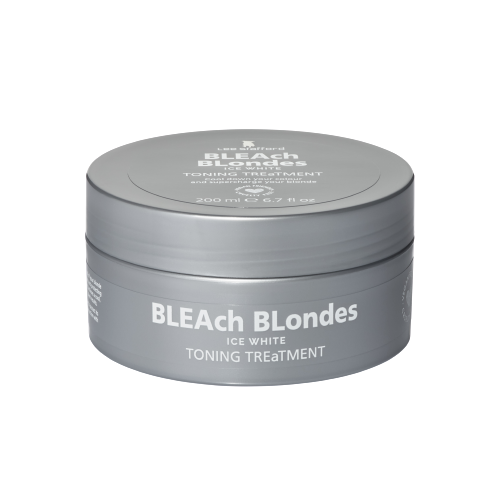 Lee Stafford Bleach Blondes Ice White ápoló hajmaszk kék pigmenttel, 200 ml