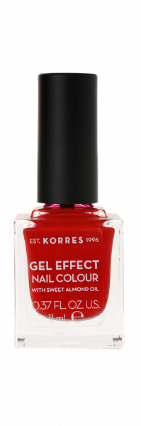 KORRES Gel-Effect Nail Colour – zselés körömlakk,53 – Royal Red, 11 ml